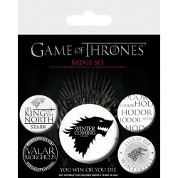 GAME OF THRONES - Stark Prints Button Badge Pack