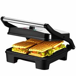 Deals On Ikich Temperature Control Panini Press 4 Slice Sandwich Maker Nonstick Panini Maker Grill With 3 Year Warranty Extra Large Plate And Removable Drip Tray Compare Prices Shop Online Pricecheck