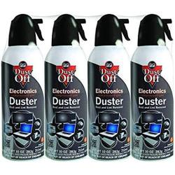 Dust-off DPSXL4A Electronics Duster Compressed Air 10OZ Cans 4-PACK