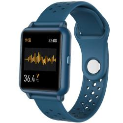 P29 1.3INCH Ips Color Screen Smart Watch IP67 Waterproof Support Temperature Monitoring heart Rate Monitoring blood Pressure Monitoring blood Oxygen Monitoring sleep Monitoring Blue