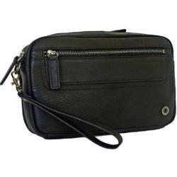 Gino De Vinci Colombia Men's Leather Utility Bag Black
