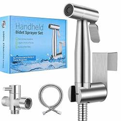 ? 2020 New Version?handheld Bidet Toilet Sprayer Premium Stainless Steel Bathroom Bidet Sprayer Set Baby Cloth Diaper Sprayer With Superior Complete Accessories Support Wall