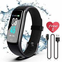 Fitness Tracker Sikadeer Activity Tracker Watch With Blood Pressure Heart Rate Monitor IP68 Waterproof Smart Watch With Step Counter Calorie Counter Sleep Monitor Call
