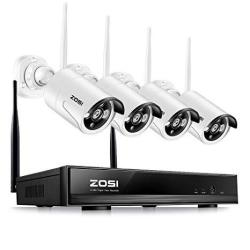 Zosi 1280X720P HD Wireless 1MP Security Network Camera With 4 Channel 960P Wifi Nvr Cctv Surveillance Systems Support Smartphone Remote View No Hard D