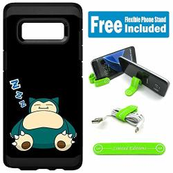 Limited Editions For Samsung Galaxy S8+ S8 Plus Defender Rugged Hard Cover Case - Pokemon Snorlax Zzz