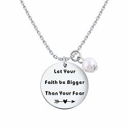 Tzrnhm Blossom Let Your Faith Be Bigger Than Your Fear Necklace