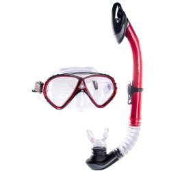 CAYMEN - Adult Dive Mask And Snorkel Blue Red