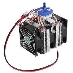 Walfront Diy MINI Dual-core Electric Semiconductor Cooler Module  Thermoelectric Peltier Refrigerator Radiator Fish Tank Cooler Fan Cooling  System 120W