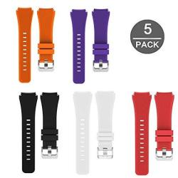 Lamshaw Classic Silicone Replacement Band For Michael Kors Smartwatch Strap 5 Pack