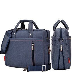 Double Yiyinoe Air-cushion Protection 14 Inch Laptop Shoulder Bag briefcase Bag handbag message Bag Extensible Thickness Blue