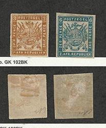 Transvaal Postage Stamp 7-8 Mint Hinged 1871-74 Jfz