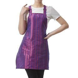 Anglovesmile Colorfulife Professional Salon Apron Hair Stylist Hairdressing Dyeing Wrap Cape Stripe Adjustable Barber Aprons With 2 Pockets T030 Purple