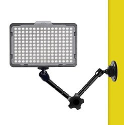 BULK4BUY 11 Inch Articulating Magic Arm Wall Mount Holder Stand For Camera LED Light Video Lamp