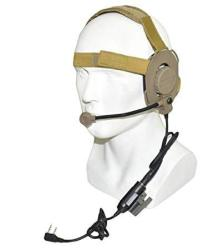 III Military Unilateral Headset With Z.tactical Tci Ptt Tactical Headphones Outdooranti Noise Headphones Tan