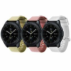 Molitec 22MM Watch Bands Compatible Samsung Galaxy Watch gear S3 FRONTIER S3 Classic Silicone Material 46MM Sport Wristband For Men Women More Color And Pattern