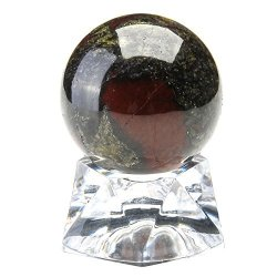 New Natural Dragon Blood Stone Quartz Crystal Sphere Ball Healing Decor Gifts
