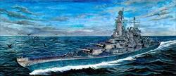 1 700 Blue Ridge Models Uss Louisiana BB-71 Montana Class Battleship