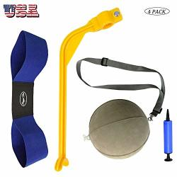 GOLF Swing Training Aid Arm Band Trainer Impact Ball Inflator Assist Value 4 Pack Posture Motion Correction Aids Set For Men Women Er Beginner