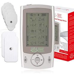 Tens Unit Combination Muscle Stimulator With 2 Channels 10 Modes For Pain Management And Rehabilitation For Muscle Relief Of The