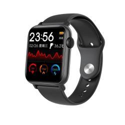 QS19 1.54 Inch Ips Screen Smart Watch IP67 Waterproof Support Body Temperature Measurement Heart Rate Monitoring Blood Pressure Monitoring Sedentary Reminder Sleep Monitoring Black