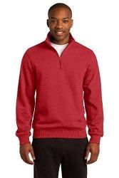 Sport-Tek 1 4-ZIP Sweatshirt. ST253 True Red 2XL