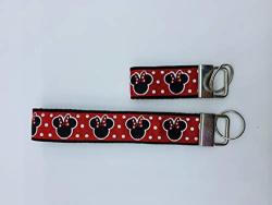 Set Of 2 Keychains Cartoon Character Minnie Mouse Key Fobs