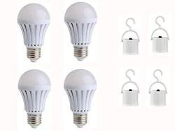 Jklcom Emergency LED Light Bulb 4PACK 9W Emergency Light Bulbs Portable Emergency Lamp Rechargeable Bulb Household Light Bulbs F
