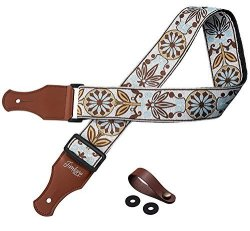 TimbreGear Extreme Comfort Acoustic Guitar Strap Electric Guitar Strap + Free - Two Guitar Strap Locks + Guitar Strap Button