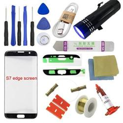 For Samsung Galaxy S7 Edge Screen Replacement Sunmall Front Outer Lens Glass Screen Replacement Repair Kit Lcd Glass Repair Kit