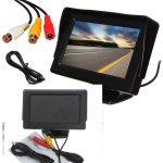 4.3 Lcd Car Rear View Monitor Screen Reverse Camera Kit DVD Vcr