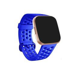 For Fitbit Versa 2 Breathable Silicone Watch Band Blue