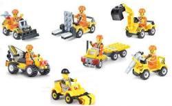 CITY Construction Building Blocks Set - 7 Different Trucks