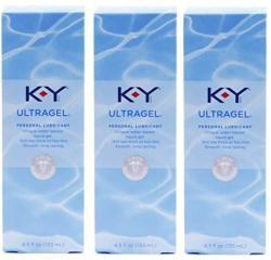 K-y Ky Ultragel Personal Lubricant Pack Of 3 @ 4.5 Oz 133 Ml Each