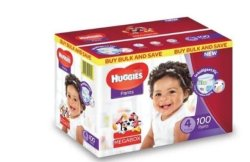 Huggies 100 Nappy Pants Size 4 Mega Box