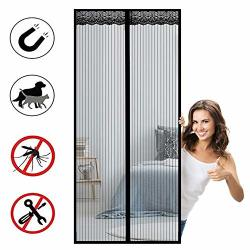 Hahy Magnetic Fly Screen Door Advanced Magnet Curtain Automatic Closure Magnetic Adsorption Easy To Install For Living Room patio Door - Black 170X250CM 66X98INCH