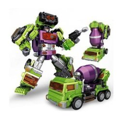 Robot Shape Changeable Machine Car Model Building Toy Abs Material
