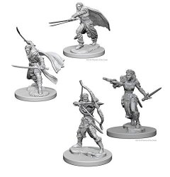 Dungeons & Dragons Nolzur's Marvelous Unpainted Miniatures Bundle: Elf Male Ranger & Elf Female Ranger