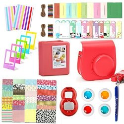 Fujifilm Instax MINI 8 8+ 9 Accessories Leebotree 10 In 1 Camera Bundles Set Include MINI 8 Case album selfie Lens filters wall