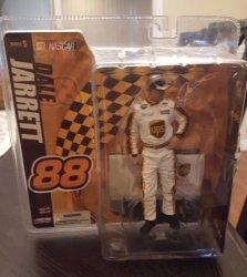 McFarlane Dale Jarrett 88 Ups White Uniform No Sunglasses Nascar Series 5 Action Figure