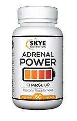 Skye LLC Adrenal Power- A Superior Energy Adaptogen Blend - Ashwagandha  Holy Basil Panax Ginseng Licorice Root - Anxiety Relief Lower Cortisol  Balance