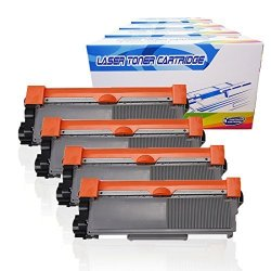 Inktoneram 4 Replacement Toner Cartridges For Brother TN-660 TN-630 TN630 TN660 High Yield HL-L2300D HL-L2320D HL-L2340DW HL-L2360DW HL-L2380DW DCP-L2520DW DCP-L2540DW MFC-L2700DW MFC-L2720DW