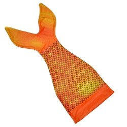 """Millffy Super Soft Cozy Mermaid Tail Blanket For Kids Girls Dress Up Sleeping Bag Best Gift For Christmas Orange L140W56CM 55"""""""