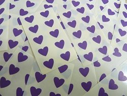 Minilabel 13X12MM Dark Purple Violet Heart Shaped Labels 130 Self-adhesive Color Code Stickers Sticky Hearts For Craft And Decoration
