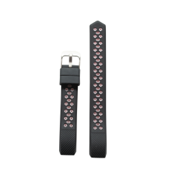 Star Silicone Band For Fitbit Alta - Black & Baby Pink