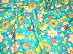 Camelot Fabrics Itty Bitty Tiny Bugs Quilting Fabric Turquoise - Per Fat Quarter