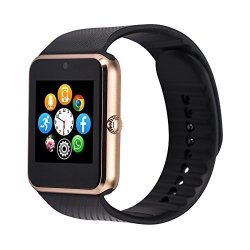 Vpro GT11 Smart Watch Notifier With Sim Card Bluetooth Connectivity Gold