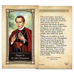 ShopCatholic St. John Neumann Laminated Holy Card - Pack Of 10