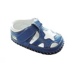 BABY Kuner Boys Girls Genuine Leather Soft Bottom Sandals First Walkers 12.5CM 12-18MONTHS Blue