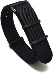 Nato Skull 20MM Nato Watch Band Strap With Pvd Buckles In Black