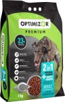 OptiMizor - Premium 2IN1 Dry Dog Food - Gravy Coated Chicken & Rice 7KG